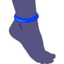 download Foot With Anklet clipart image with 225 hue color