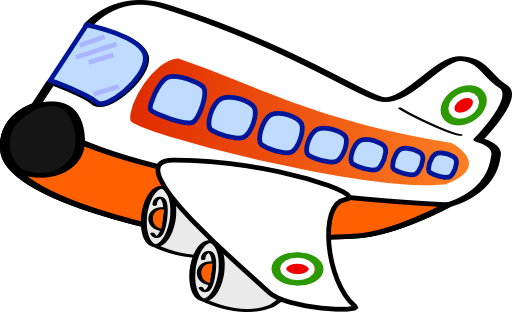Funny Airplane One Clipart - Royalty Free Public Domain Clipart