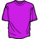 download Pink T Shirt clipart image with 315 hue color