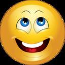 Yellow Wishing Happy Smiley Emoticon