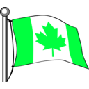 download Canada Flag Flying clipart image with 135 hue color
