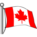 Canada Flag Flying