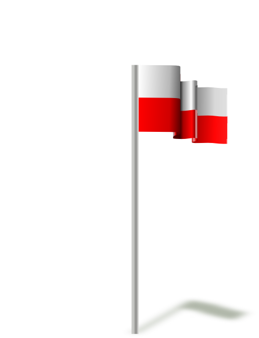 Flag Of Poland Wind