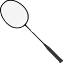 download Badminton Racket With Strings clipart image with 45 hue color