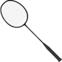 download Badminton Racket With Strings clipart image with 135 hue color
