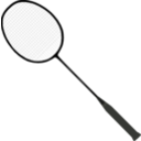 download Badminton Racket With Strings clipart image with 225 hue color