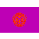 download Flag Of Kyrgyzstan clipart image with 315 hue color