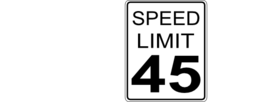 Ca Speed Limit 45 Roadsign