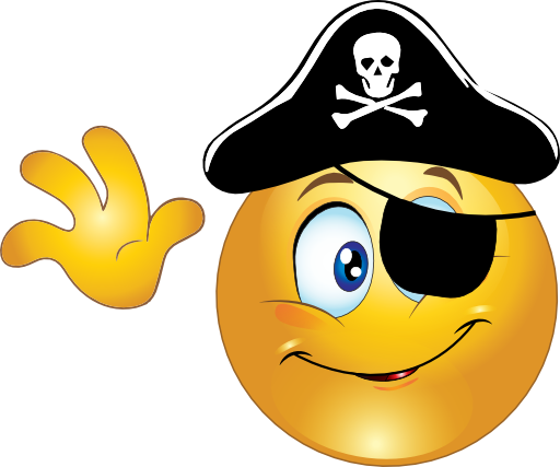 Pirate Smiley Emoticon Clipart - Royalty Free Public Domain Clipart