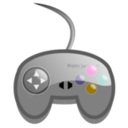download Simple Game Pad clipart image with 315 hue color