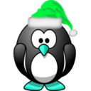 download Santa Penguin clipart image with 135 hue color