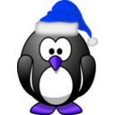download Santa Penguin clipart image with 225 hue color