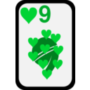 download Nine Of Hearts clipart image with 135 hue color
