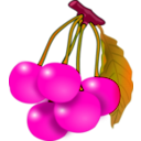 download Cherries clipart image with 315 hue color