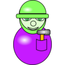 download Construction Worker clipart image with 45 hue color