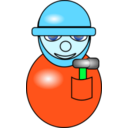 download Construction Worker clipart image with 135 hue color