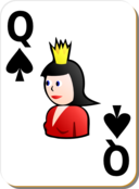 White Deck Queen Of Spades