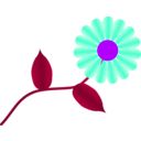 download Daisy Fuchsia clipart image with 225 hue color