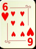 Ornamental Deck 6 Of Hearts