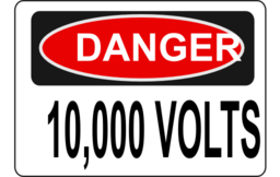 Danger 10 000 Volts