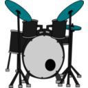 download Drums clipart image with 135 hue color