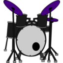 download Drums clipart image with 225 hue color