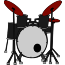 download Drums clipart image with 315 hue color