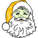 download Classic Santa clipart image with 45 hue color