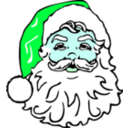 download Classic Santa clipart image with 135 hue color