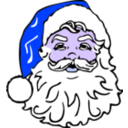 download Classic Santa clipart image with 225 hue color