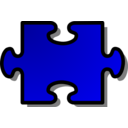 Blue Jigsaw Piece 02