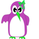 download Cute Green Bird clipart image with 135 hue color