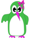 download Cute Green Bird clipart image with 315 hue color