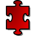 Red Jigsaw Piece 01