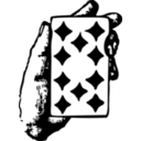 Hand With Ten Of Diamonds