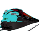 download Passenger Train clipart image with 135 hue color