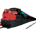 download Passenger Train clipart image with 315 hue color