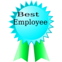 download Best Employee clipart image with 135 hue color