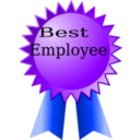 download Best Employee clipart image with 225 hue color