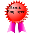 download Best Employee clipart image with 315 hue color