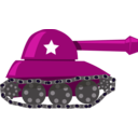 download Cartoon Tank clipart image with 225 hue color