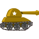 download Cartoon Tank clipart image with 315 hue color
