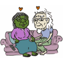 download Growing Old Together clipart image with 45 hue color