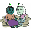 download Growing Old Together clipart image with 135 hue color