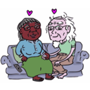 download Growing Old Together clipart image with 315 hue color