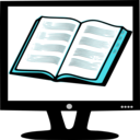 download Book On Monitor clipart image with 135 hue color
