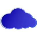 download Nube Azul clipart image with 45 hue color