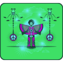 download Fro Bro Peace Yo clipart image with 135 hue color