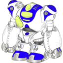 download Robot Color clipart image with 225 hue color