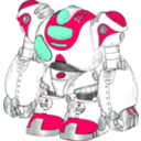 download Robot Color clipart image with 315 hue color